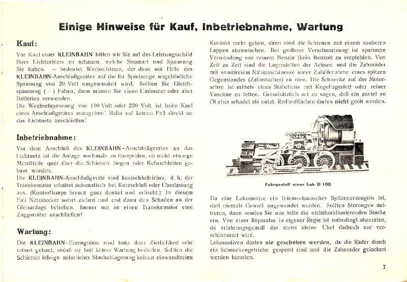 Kleinbahn D 100: Die letzten Produktionszyklen Katalo10
