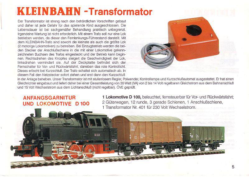 Kleinbahn D 100: Die letzten Produktionszyklen Katalo11